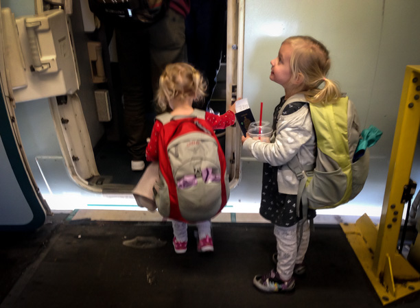 what to pack for flying with little kids