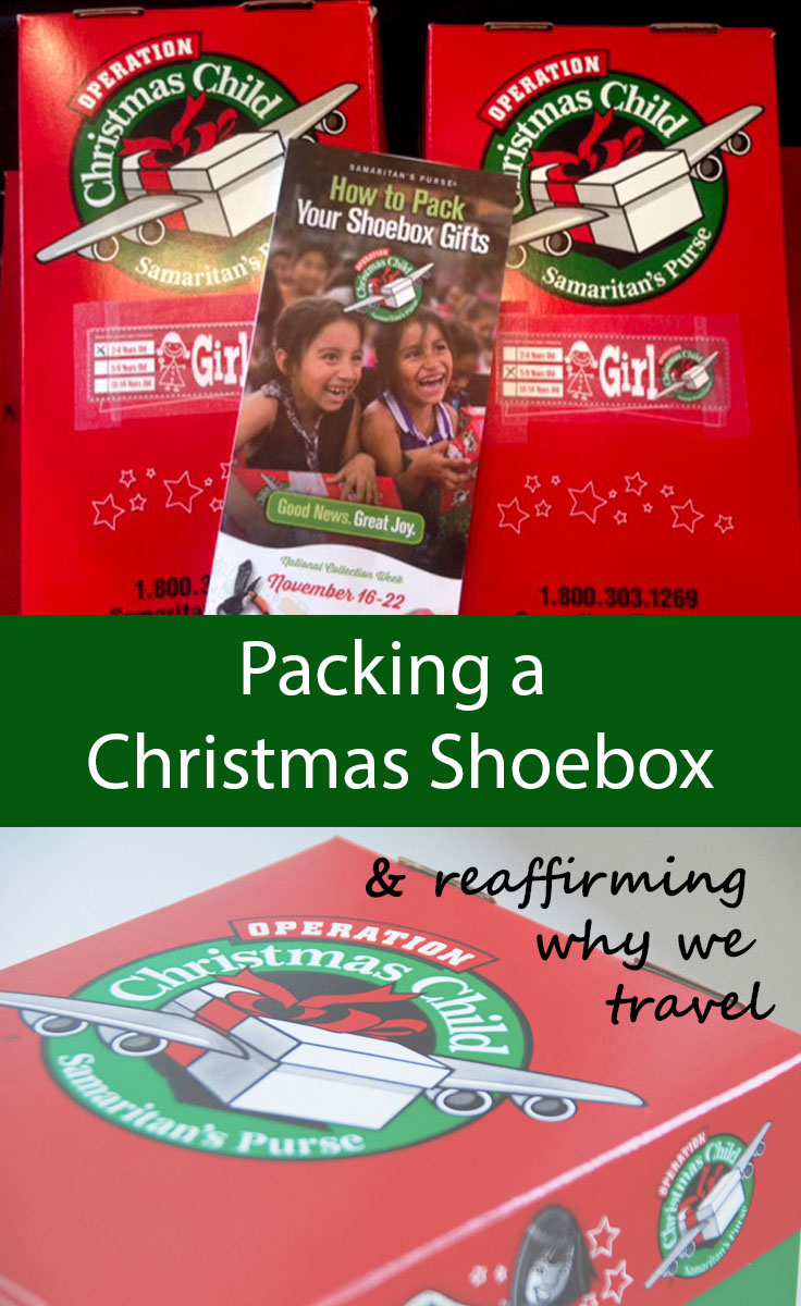 Packing a Christmas Shoebox