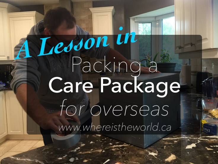 A Lesson in Wrapping a Care Package