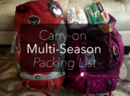 Mom and Dad Carry-on Packing List for Multi-season Travel