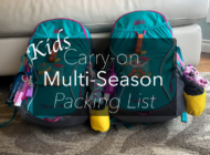 What to Pack for Kids Multi-season Travel