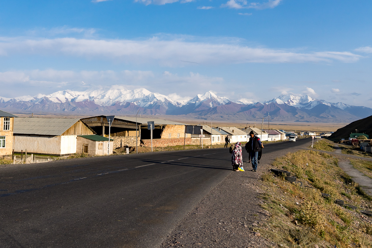 Crossing the Border from Kyrgyzstan to China with Kids