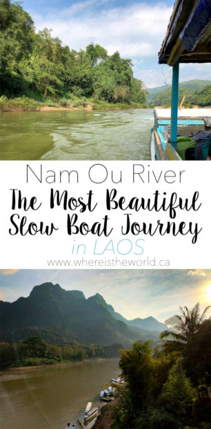 The Slow Boat Journey from Muang Khua to Nong Khiaw is truly spectacular. It's way more fun than taking the bus from Muang Khua to Luang Prabang. | Laos | Family Travel | Travel in Laos | Muang Khua | Nong Khiaw | Luang Prabang | Laos Travel | Slow Boat | Laos Slow Boat | Nam Ou River |