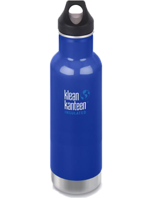 Klean Kanteen insulated water bottle for travel