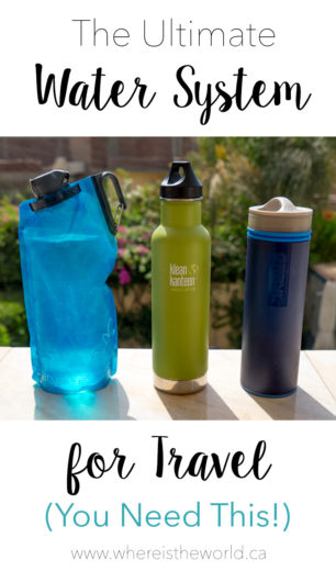 The Ultimate Filter Water Bottle and Travel System. Everything you need for safe drinking water around the world | Travel | Water Bottle | Travel Gear | What to Pack for Travel |