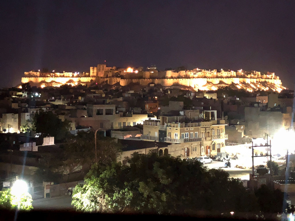 Jaisalmer at night