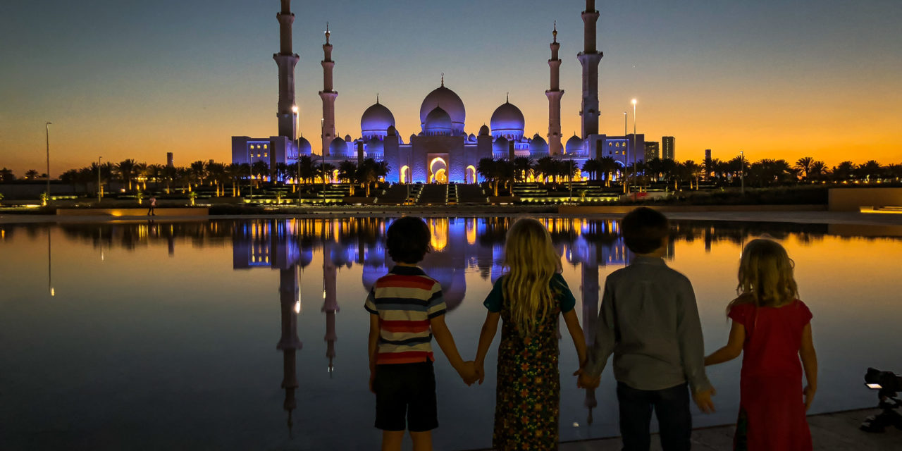 A Layover In Abu Dhabi With Kids – We Found Friends!